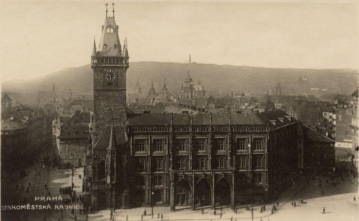 Old Town Hall and Astronomical Clock, Prague. Circa 1910's.