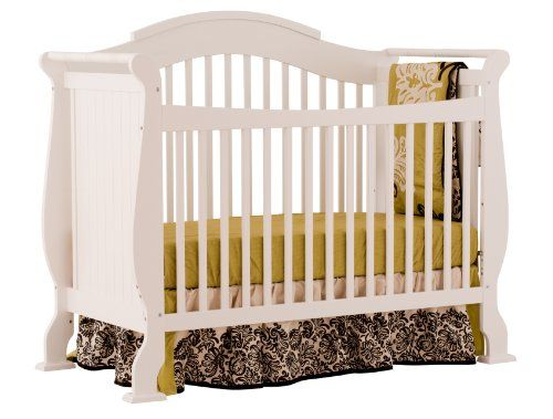 Stork Craft Valentia Fixed Side Convertible Crib White - Best Baby Cribs