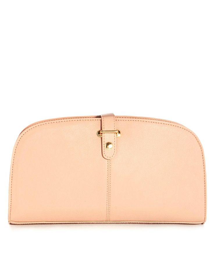 Zip Around Grab Clutch Bag