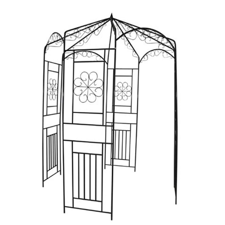 Ideal garden feature to place in a seating area. This beautiful Metal Pergola is made from dark green weather resistant wrought iron and is a stable base for roses and other climbers. The Metal Pergola is 250 cm high and 160 cm wide, measured from one corner to the opposite one. | eBay!