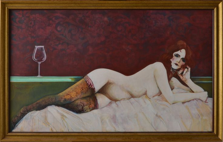 Carlos Prieto // Portrait of Reclining Nude - Wall - Greedfineart.com