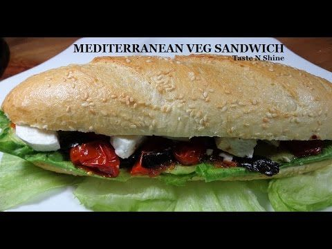 Mediterranean Veg Sandwich | Healthy and low Calorie Recipe