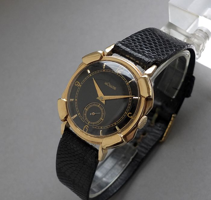 "SOLD JAEGER LECOULTRE ""PERSHING"" 14K Solid Gold Vintage Gents Watch 1958 :: Itsawindup"