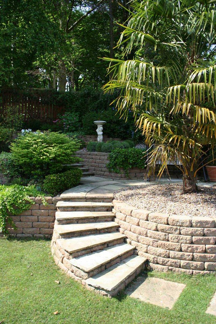 Sloping Garden #Design #Ideas . Solution to create small sloping #garden design ideas is with retaining walls. It's just that, you need to be careful with the..