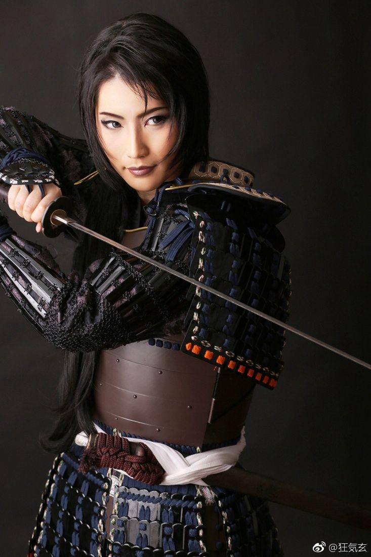 Картинка девушка самурай с мечом