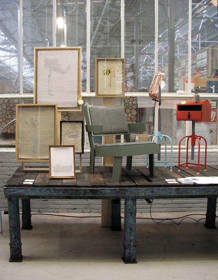 furniture, drawings, jobtom     TOM FRENCKEN     group expo at PIET HEIN EEK during DUTCH DESIGN WEEK 2012 together with JOPSPROPS
