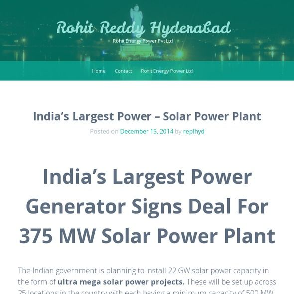 The Indian government is planning to install 22 GW solar power capacity in the form of ultra mega solar power projects. These will be set up across 25 locations in the country with each having a minimum capacity of 500 MW.