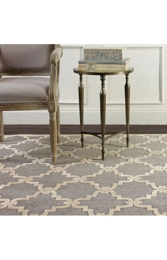 Rugs USA Velvet Trellis VL01 Light Grey Rug