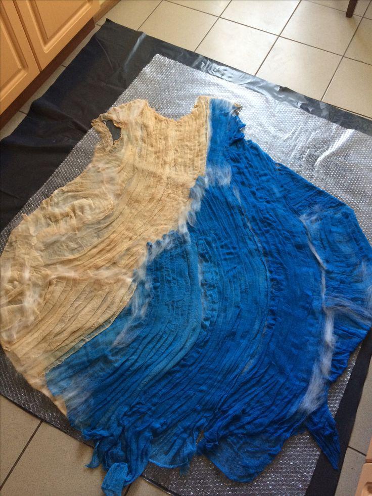 New felted dress sarafan by Nadin Smo design. www.nadinsmo.com