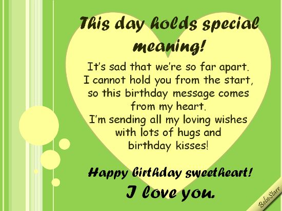 Long Distance Birthday. | Bf Quotes | Pinterest | Distance ...