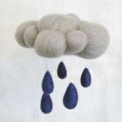 Needle felt raincloud