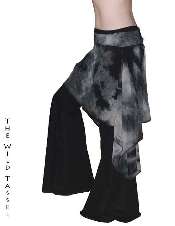 Tribal  Gothic  Steampunk Belly Dance Hip Skirt/ by TheWildTassel, $25.00
