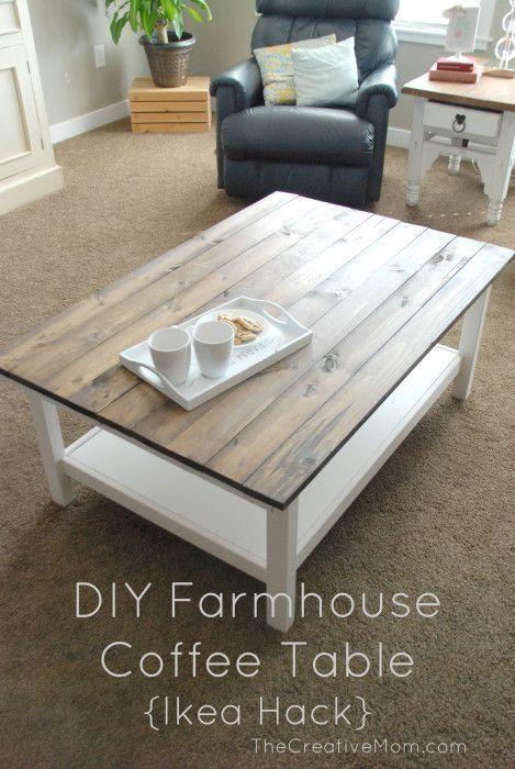 DIY Farmhouse Coffee Table (Ikea Hack)
