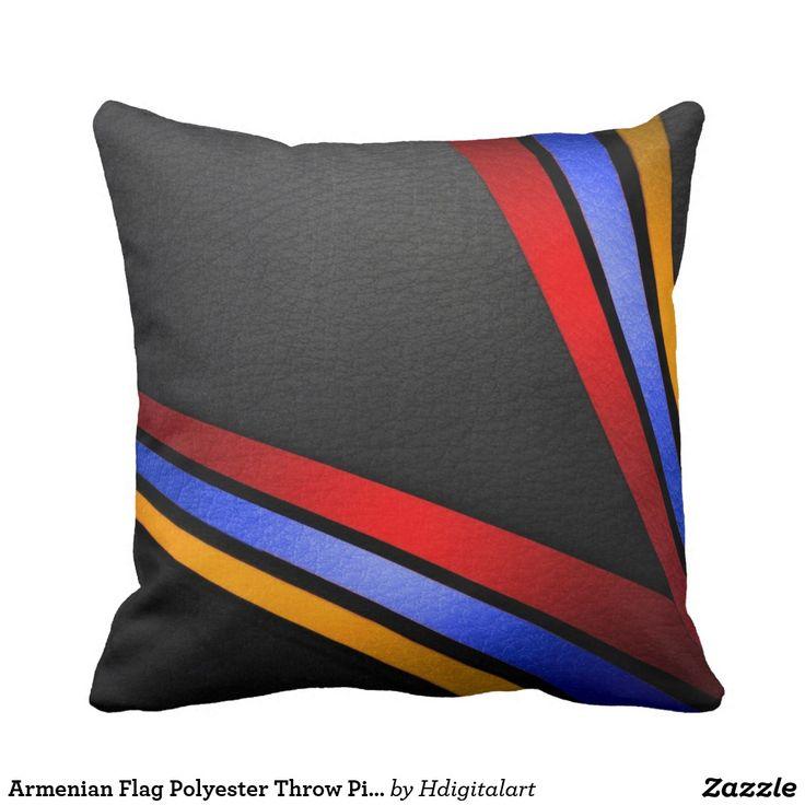 Armenian Flag Polyester Throw Pillow Եռագույն