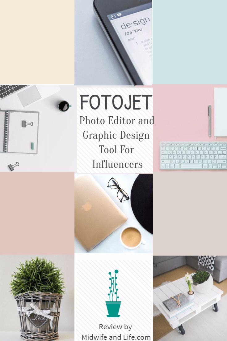 An overview of the free graphic design and photo editor Fotojet. Make your own graphics for your blog or social media.
