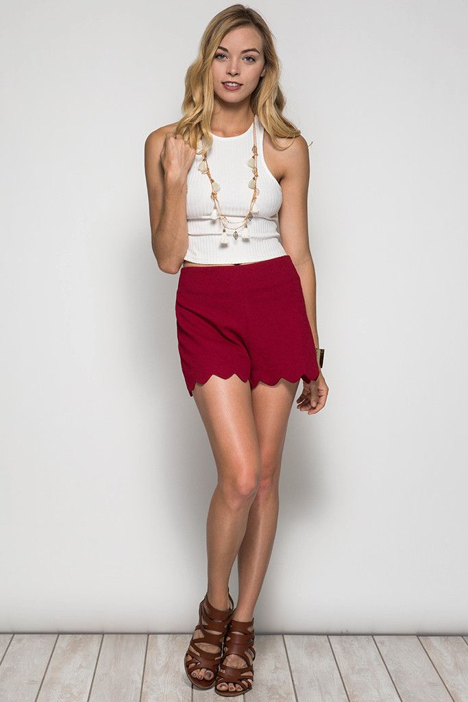 Like No Other Shorts- Red from Chocolate Shoe Boutique