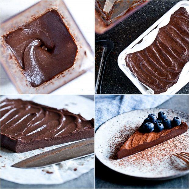 Raw čokoládový krémový řez 2