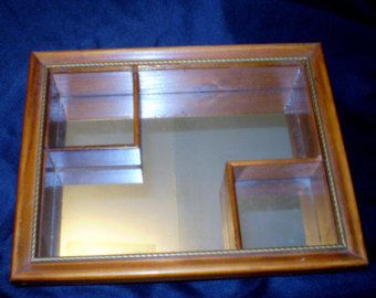 13 best mcm shadowbox mirrors images on pinterest for Mirrored box shelves