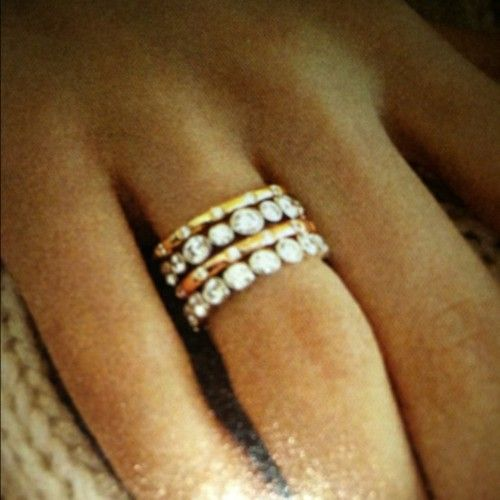 Eternity Rings With Simple Gold Stack My Favorite Who Says You Need A Man Right Hand