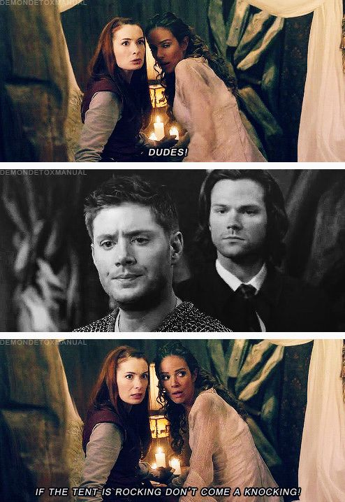[gifset] 8x11 LARP and The Real Girl --- Dean's jealous but impressed by Charlie's Swag in this episode. mostly impressed. they would make a great wing man team...