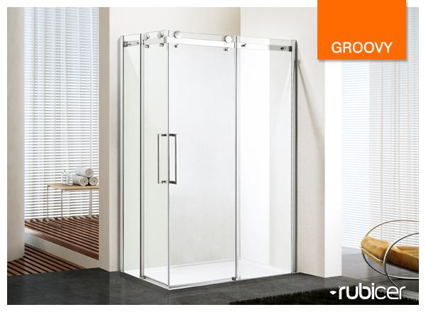 An ecologic solution! Rubicer's shower screen with anti-calc treatment.  #groovy #diferentsolutions #showerscreen #resguardo #anticalcario #higiene #limpeza #eco #interiordesign #bath #water #render #glass #modern #simple #aesthetics #function #design #user #rubicer