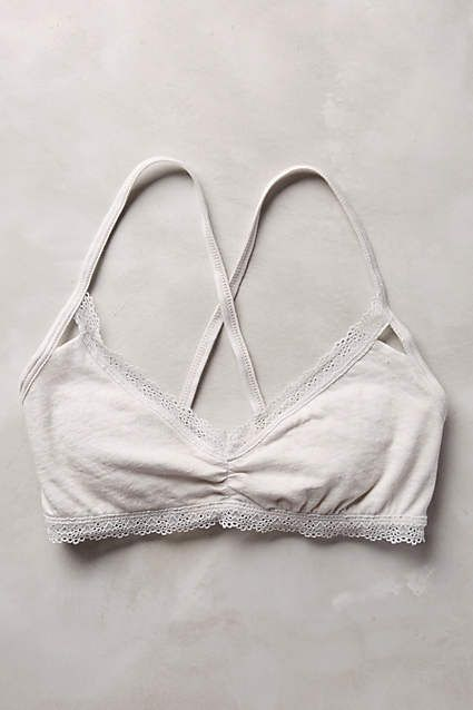 Nivi Cotton Bralette - anthropologie.com