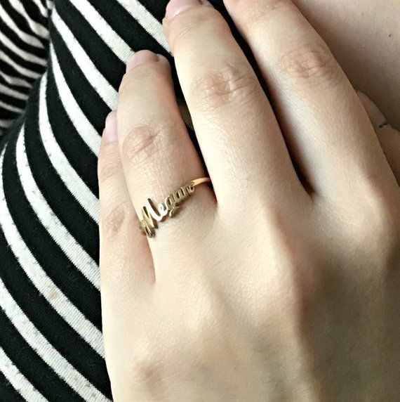 Solid Rose Gold Script Initial X Stackable Diamond Ring