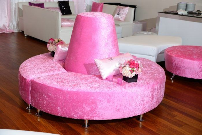 Bat Mitzvah Teen Party Lounge, Pink & White {Planner: Perfect Party ...
