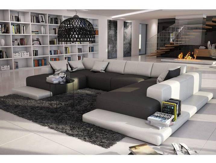 Xxl Wohnlandschaft U Form Cosy Grau Weiss In 2020 Modern Couch