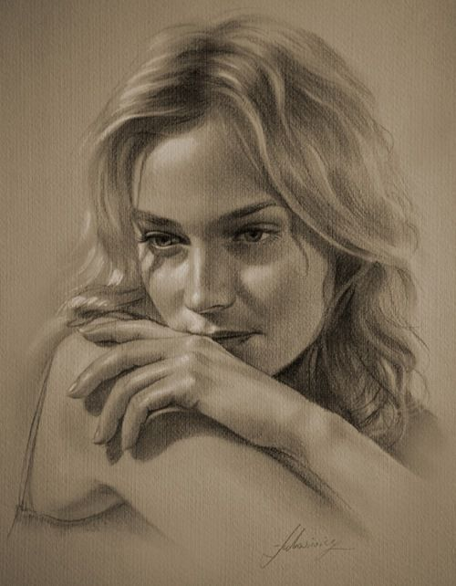 Pencil Sketches of Women | Also checkout the works of another talented artist, Linda Huber and ...