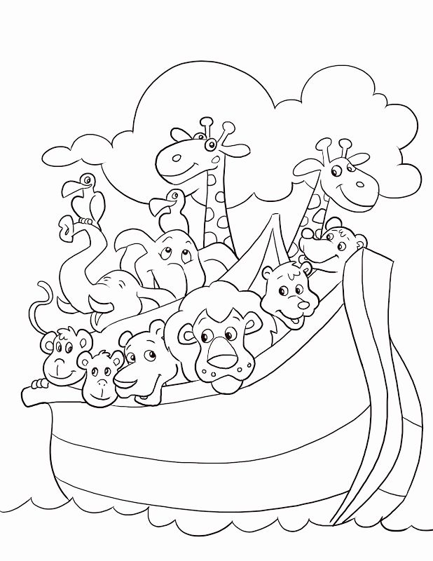 top 25+ best bible coloring pages ideas on pinterest | colouring ... - Noahs Ark Coloring Pages Print