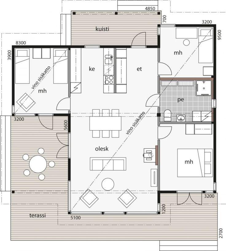 Kontio Kuusisaari -mallit ovat rakennuksia, joissa viihdytään niin perheen kuin ystävienkin seurassa.