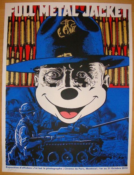 "2010 ""Full Metal Jacket"" - Silkcreen Movie Poster by Tim Doyle"