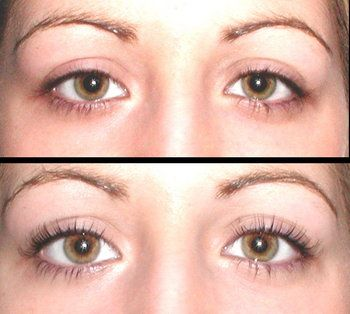 """This is hilarious that someone would consider """"perming"""" their eyelashes,  but it does show how using an eyelash curler transforms your eyes - always before mascara."""