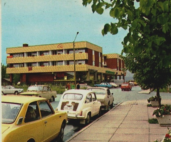 A Finnish postcard from the early 70s portraying the town of Kangasniemi