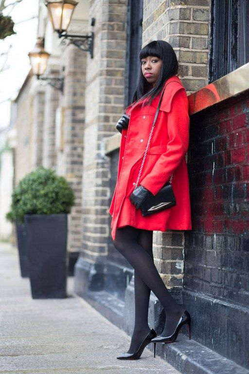 Fashion blogger, primark coat, DVF bag, Christian Louboutin Pigalles