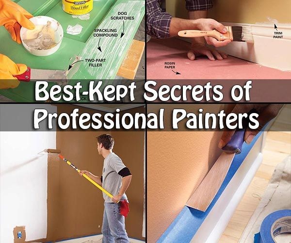 Best-Kept Secrets of Professional Painters Best-Kept Secrets of Professional Painters While a lot of people out there wont notice or don't care, there are just as many people that are at least a lit