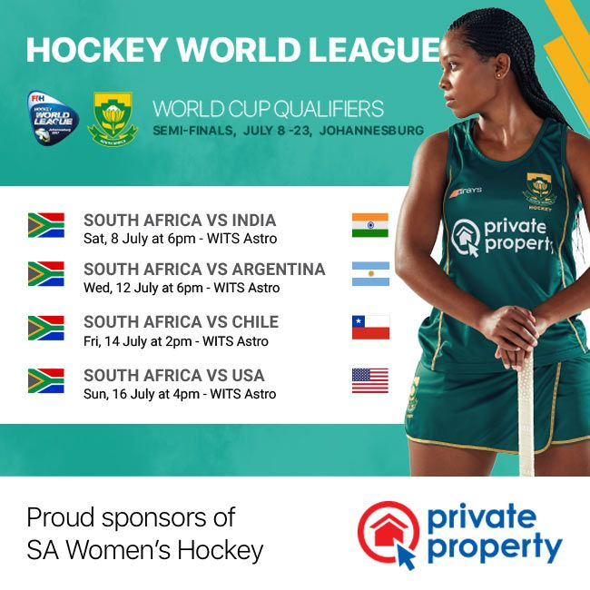 Private Property wishes the SA Women's Hockey team the best for the upcoming Hockey World League Semi-Finals in Joburg.  Buy tickets for the event at www.hockeyworldleague.nutickets.co.za  #SAHockeyRevolution #Hockey #womenimpowerment #sport #HWL2017