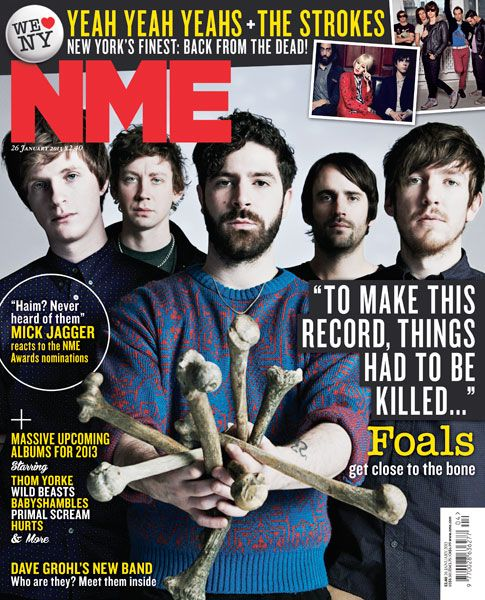 NME Magazine cover, Foals, January 26th 2013