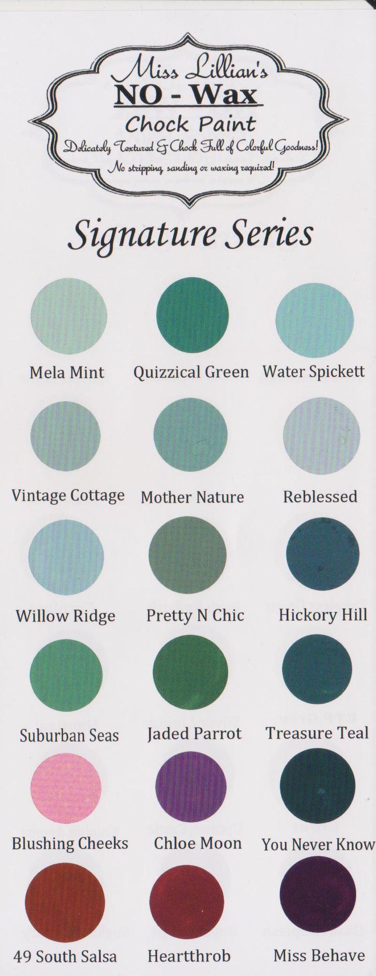 96 best miss lillians no wax chock paint images on pinterest miss lillians color chart nvjuhfo Choice Image