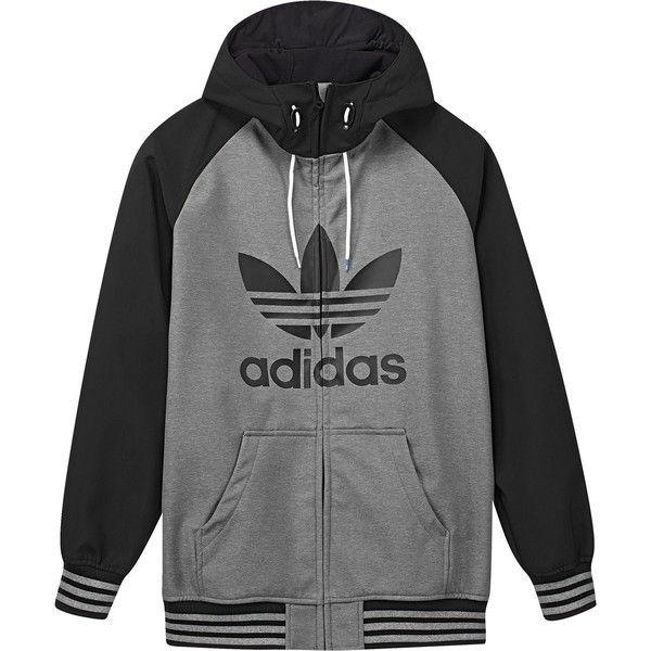 Adidas Greeley Softshell Jacket ($165) ❤ liked on Polyvore featuring men's fashion, men's clothing, men's activewear, men's activewear jackets and mens activewear