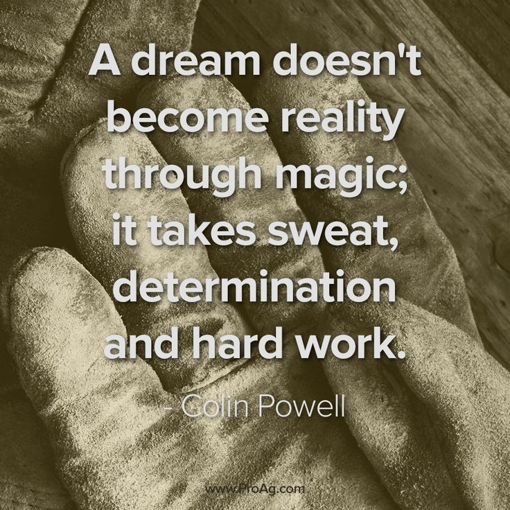 ProAg's resident Old Farmer knows that the ag community is putting in some long hours right now. This Colin Powell quote fits the rural mindset well - sweat, determination, and hard work.