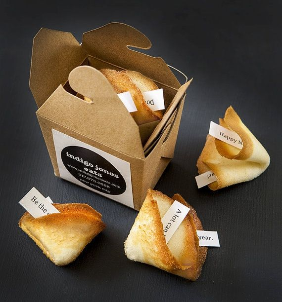 Custom Fortune Cookies In Individual Boxes - 8 Pieces by Indigo Jones Eats on Gourmly