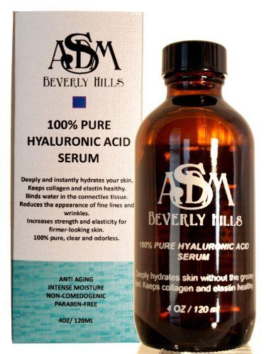 100 Pure Hyaluronic Acid Serum 4oz by ASDM Beverly Hills. $29.95. Hyaluronic Acid is naturally found in skin and abundant in youthful skin, Hyaluronic Acid depletes with age. Therefore it is important to give your skin extra Hyaluronic Acid for tissue hydration, lubrication and cellular function.. What it is: ASDM Beverly Hills 100% Pure Hyaluronic Acid is able to permeate the skin and address aging where it begins. Hyaluronic Acid (HA) is the key compound that keeps...
