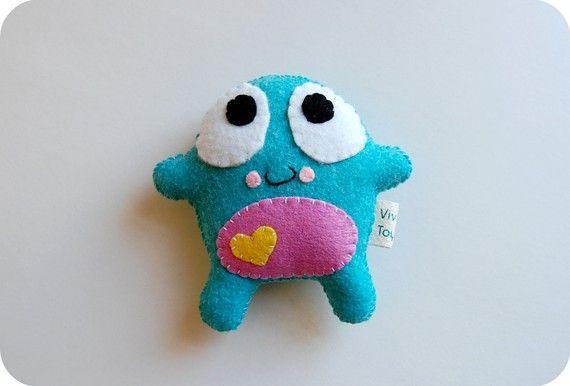Poko Eco Friendly Plush Toy Monster by vivikas on Etsy, $16.00
