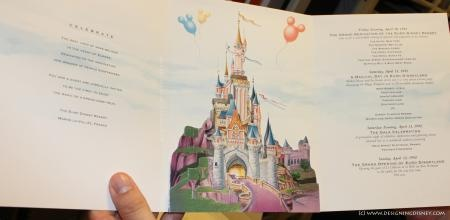 Invitation to Grand Opening of Euro Disney Resort from April 1992 (source: Designing Disney)