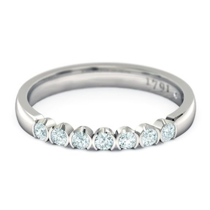 Eternal Women's Wedding Band in 18kt White Gold - Top View