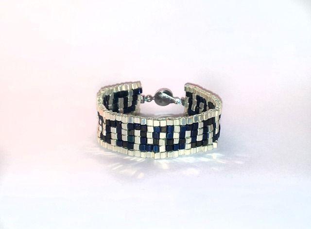 Bracelet Tonanzin Collection Azteka en perles carrées tissées