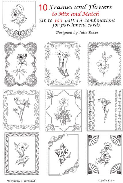 Free Pergamano Lace Patterns | Julie Roces Parchment Pattern Packs