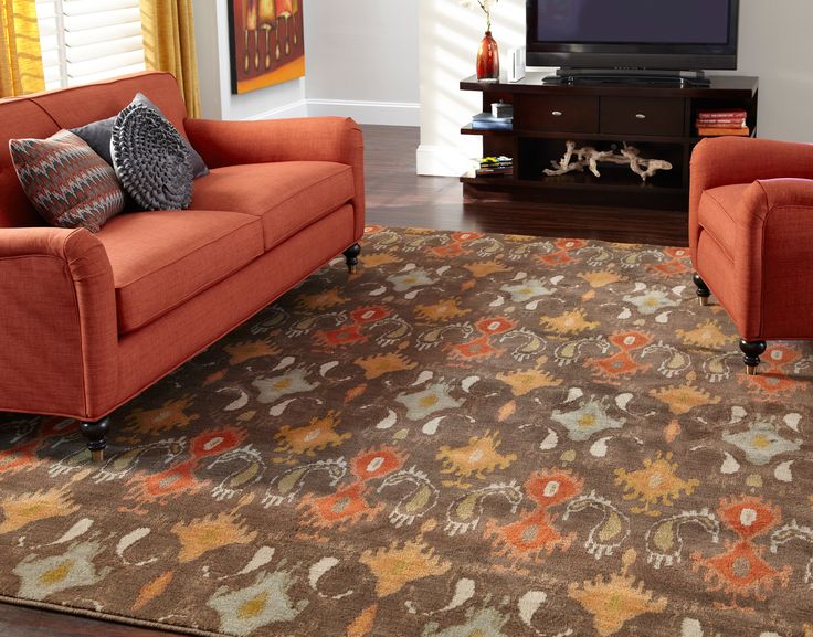 Casual Area Rugs From Oriental Weavers Check Out Your Local Carpet One To Create Orange RugsLiving Room RugsDining